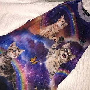 Galaxy cat muscle tee